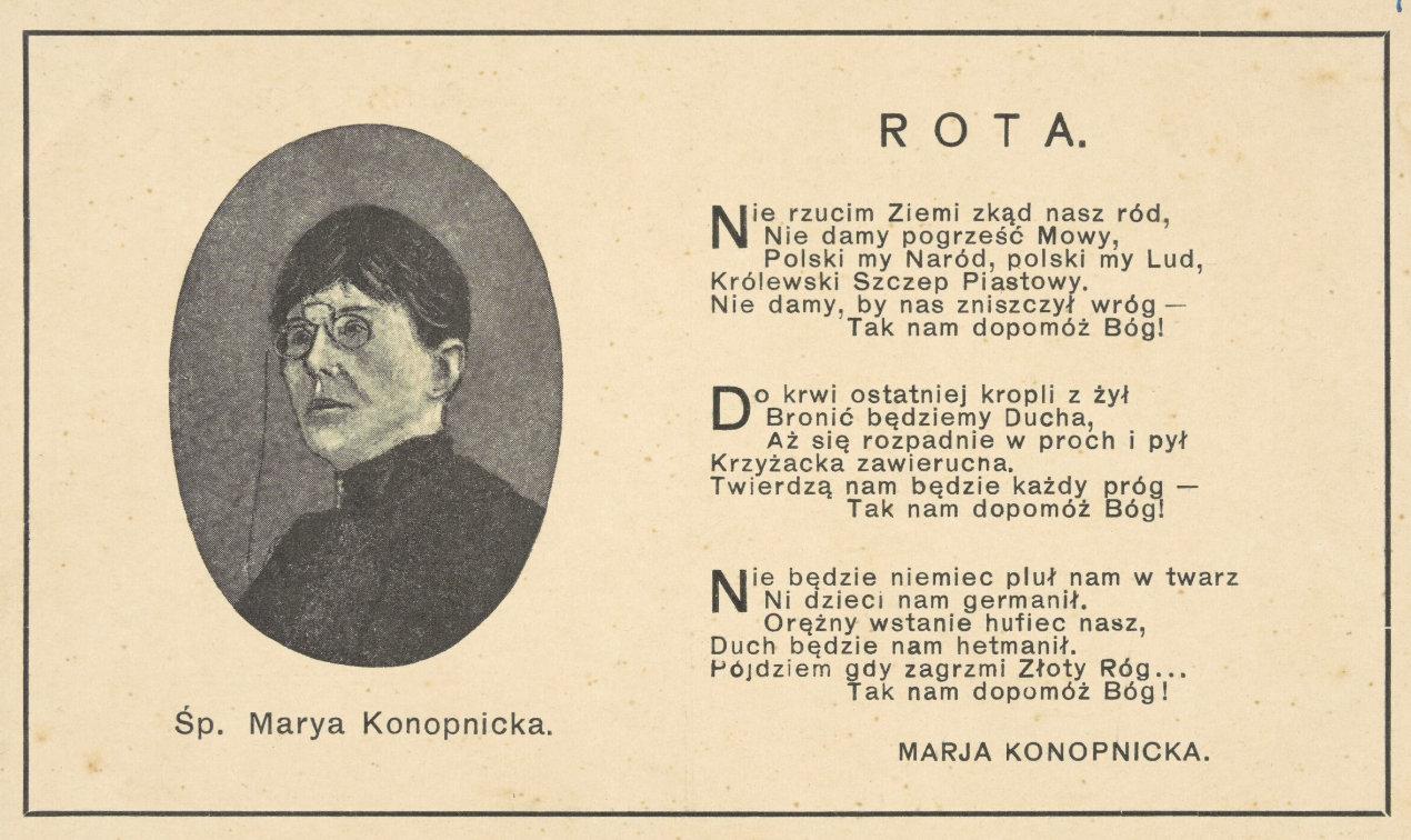 Maria Konopnicka Rota Ckziu Mrągowo
